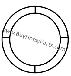 "Hotsy Insulation Retainer Ring 16"" OD x 10"" ID Diameter 8.719-935.0"