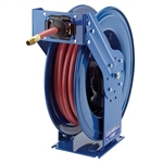 "Cox spring driven retractable hose reel saves time and protects high pressure power washer hose, 50ft x 3/8"" hose"