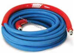 8.739-198.0 Hotsy Dual Wire Braid 4500 PSI Non-Marking Pressure Washing Hose 50 ft