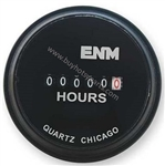 Round Hour Meter 24 Volts AC 8.749-316.0