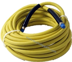 8.901-804.0 Yellow Non-Marking 100 Ft Food Grade High Pressure Hose 3000 PSI