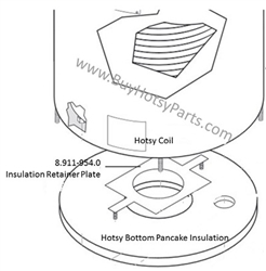 Hotsy Insulation Retainer Plate 8.911-954.0