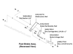 Hotsy Brake Pad Bracket 8.912-019.0