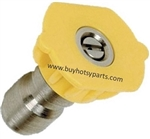 9.802-292.0 Yellow Quick Connect Pressure Washer Nozzle, Size 3.5
