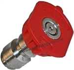 Red Quick Connect Pressure Washer Nozzle Size 4.0, Zero Degree Spray Pattern, 9.802-295.0