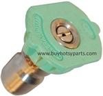 9.802-297.0 Size 4.0 Green Quick Connect Pressure Washer Nozzle, 25 Degree Spray Pattern