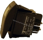 9.802-451.0 Illuminated Rocker Switch, 10 Amp, 125 - 277 VAC, Green Light for Hotsy pressure washer burner control switch