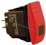 9.802-452.0 Illuminated Rocker Switch, 15 Amp, Red Actuator Face for Hotsy pressure washer pump on off control switch