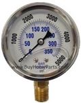 5000 PSI Stainless Steel Bottom Mount Pressure Gauge 9.804-017.0
