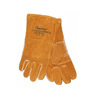 Crematory Leather Safety Gloves | MortuaryMall.com
