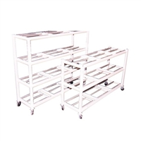 Crematory Body Storage Racks w/ Casters