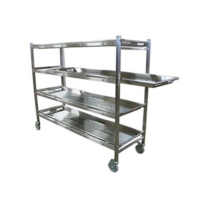 Mortech Series 7010 Portable Mortuary Storage Rack w/ Rollers