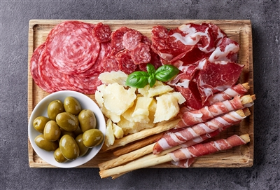 Cured Meats and Cheese Sampler