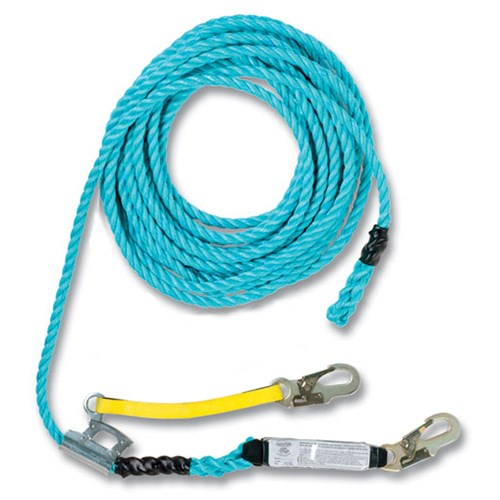Guardian 01327 <b> 50 foot </b> rope lifeline assembly.