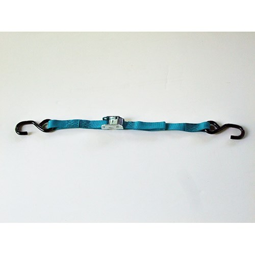 54C112X06 <b> 1 Inch X 6 Foot</b> Motorcycle Cam Strap With Vinyl Coated S Hooks.