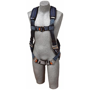 DBI/SALA 110102 <b>ExoFit XP Vest-Style</b> Full Body Harness With <b>Single Back Dee Ring, Built-In Belt Loops, Removable Padding</b> And <b>Quick-Connect Buckle</b> Leg Straps.  <b>Size-Large</b>.