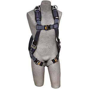 DBI/SALA 1110377 <b>ExoFit Vest-Style</b> Full Body Harness With <b>Back And Shoulder Dee Rings, Built-In Belt Loops, Removable Padding</b> And <b>Quick-Connect Buckle</b> Leg Straps.  <b>Size-Large</b>.