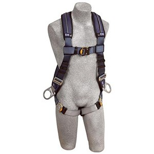 DBI/SALA 1110227 <b>ExoFit XP Vest-Style</b> Full Body Harness With <b>Back And Side Dee Rings, Built-In Belt Loops, Removable Padding</b> And <b>Quick-Connect Buckle</b> Leg Straps.  <b>Size-Large</b>.