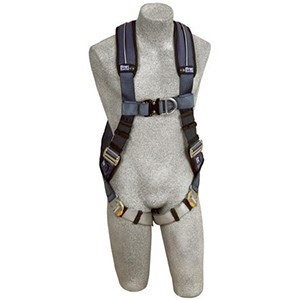 DBI/SALA 1109728 <b>ExoFit Vest-Style</b> Full Body Harness With <b>Back And Front Dee Rings, Built-In Belt Loops, Removable Padding</b> And <b>Quick-Connect Buckle</b> Leg Straps.  <b>Size-X-Large</b>.