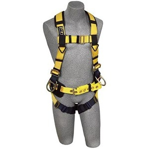 DBI/SALA 1106404 <b>Delta II Iron Worker Vest-Style</b> Full Body Harness With <b>Back And Side Dee Rings, Belt With Sewn-In Back Pad, Reinforced Seat Strap</b> And <b>Tongue Buckle</b> Leg Straps.  <b>Size-Medium</b>.