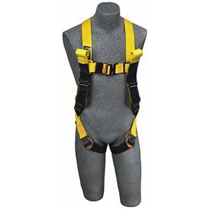 DBI/SALA 1110780 <b>Delta II Arc Flash</b> Full Body Harness With <b>Back Web Loop, Front Rescue Loops, Leather Insulators</b> And <b>Quick-Connect Buckle</b> Leg Straps.  <b>Size-Medium</b>.