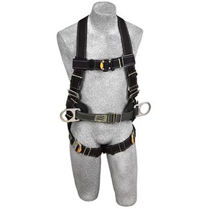 DBI/SALA 1110800 <b>Delta II Arc Flash/Flame Resistant</b> Full Body Harness With <b>Back Web Loop, Side Dee Rings, Belt With Sewn-In Back Pad, Nomex/Kevlar Webbing</b> And <b>Quick-Connect Buckle</b> Leg Straps.  <b>Size-Medium</b>.