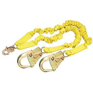 3M DBI/SALA 1244409 100% Tie-Off Internal Stretch Shock Absorbing Lanyard With Rebar Hooks