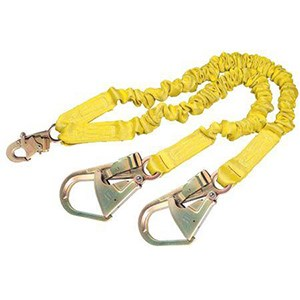 3M DBI/SALA 1244412 100% Tie-Off Internal Stretch Shock Absorbing Lanyard With Rebar Hooks