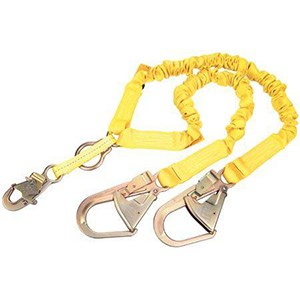 3M DBI/SALA 1244456 100% Tie-Off Internal Stretch Shock Absorbing Lanyard With Rebar Hooks
