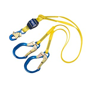 3M DBI/SALA 1246021 100% Tie-Off Shock Absorbing Web Lanyard With Rebar Hooks