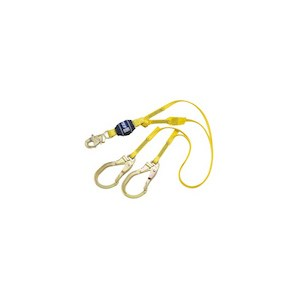 3M DBI/SALA 1246024 100% Tie-Off Shock Absorbing Web Lanyard With Rebar Hooks