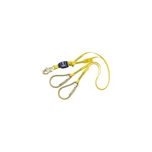 3M DBI/SALA 1246023 100% Tie-Off Shock Absorbing Web Lanyard With Large Carabiner