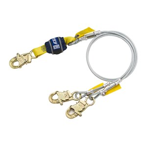 DBI/SALA 1246181 100% Tie-Off Vinyl Coated Cable Lanyard