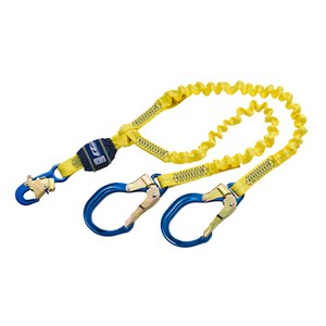 3M DBI/SALA 1246193 100% Tie-Off Shock Absorbing Stretch Lanyard With Rebar Hooks