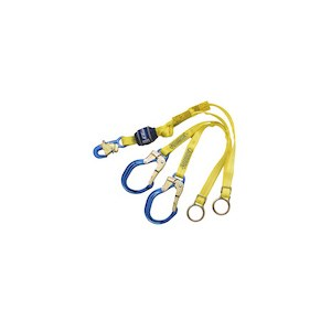 3M DBI/SALA 1246071 100% Tie-Off, Tie-Back Shock Absorbing Lanyard With Rebar Hooks