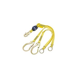 3M DBI/SALA 1246072 100% Tie-Off, Tie Back Shock Absorbing Lanyard With Rebar Hooks
