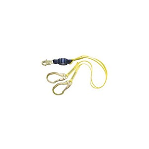 3M DBI/SALA 1246159 100% Tie-Off Force2 Shock Absorbing Web Lanyard With Rebar Hooks