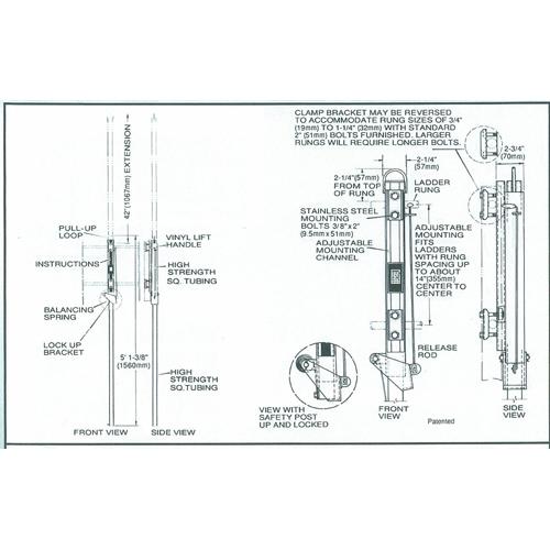 Bilco LU-1 LadderUP Safety Post