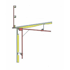 BodyGuard MB 300 Metal Building Guardrail