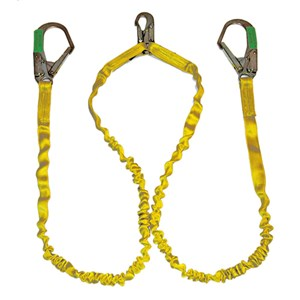 Guardian 11203 IS-72-2R-6 Double Leg Internal Shock Absorbing Lanyard With Rebar Hooks