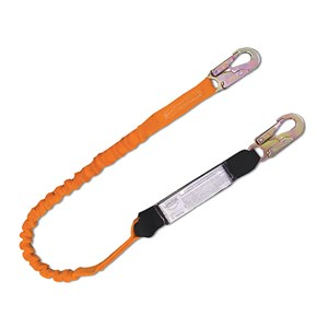 Guardian 11902 Tiger Tail Stretch Shock Absorbing Lanyard With Rebar Hook