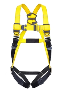 Guardian 37002 Series 1 Full Body Harness With Single Back D-Ring And Pass-Through Buckle Leg Straps