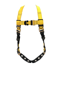 Guardian 37005 Series 1 Full Body Harness with single back D-ring and tongue buckle leg straps.