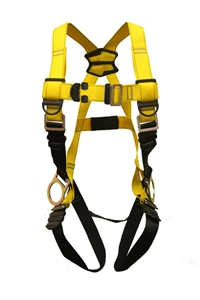 Guardian 37011 Series 1 full body harness with back and side D-rings and pass-through buckle leg straps.