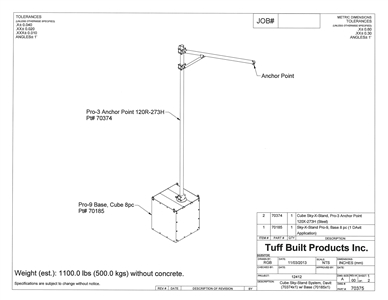 Tuff Built 70375 Pro-9 Mobile Counter Weight Anchor