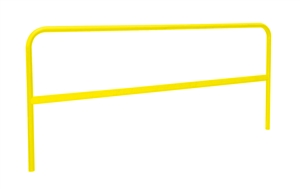 Roof Zone 70759 7.5 Foot RZ Universal Powder Coat Yellow Guardrail Section