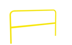 Roof Zone 70760 5 Foot RZ Universal Powder Coat Yellow Guardrail Section