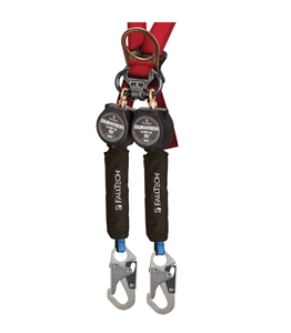 FallTech 72706TB1 DuraTech Mini twin leg 6 foot self retracting web lifeline
