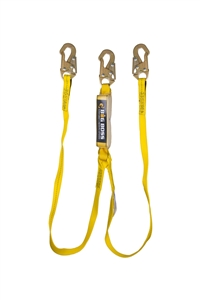 Guardian 21302 Big Boss Extended Free Fall Double Leg Shock Absorbing Web Lanyard