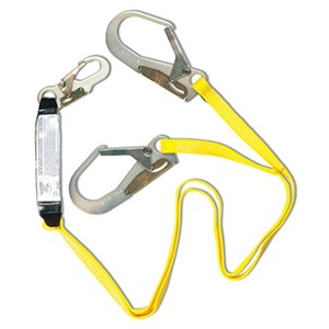 Guardian 01231 SS72-2R-6 Double Leg Shock Absorbing Web Lanyard With Rebar Hooks